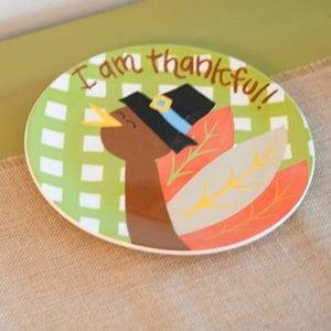 I am Thankful Turkey Plate