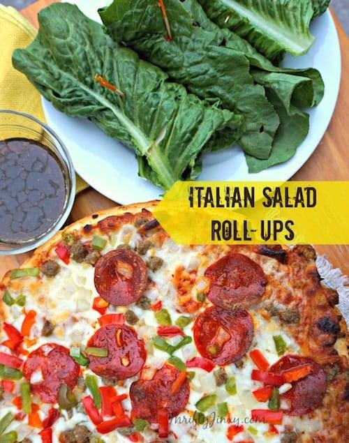 Italian Salad Roll-Ups Recipe