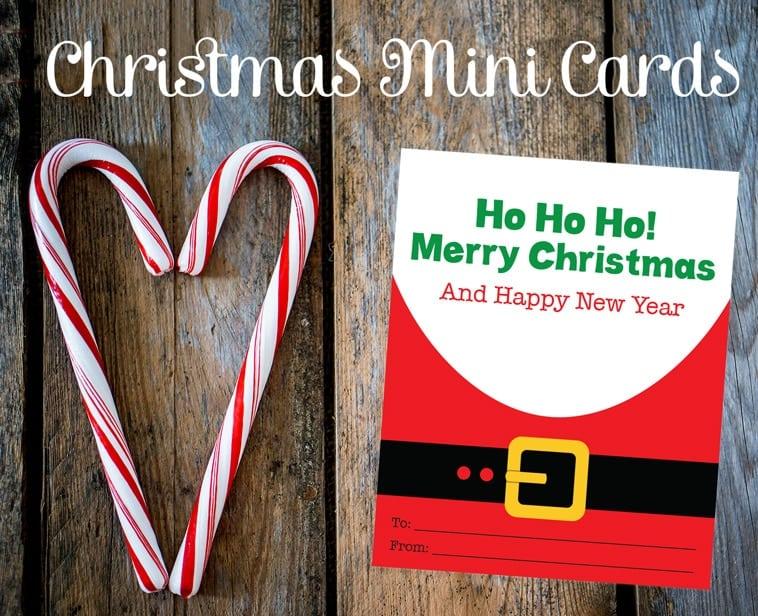 Printable Santa Mini Cards