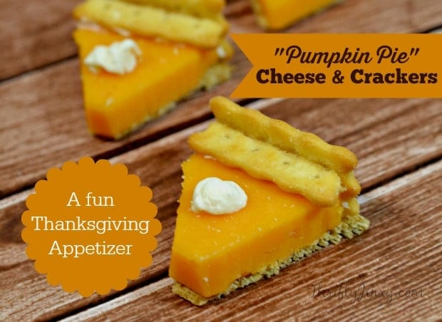 Pumpkin Pie Cheese Crackers Thanksgiving Appetizer