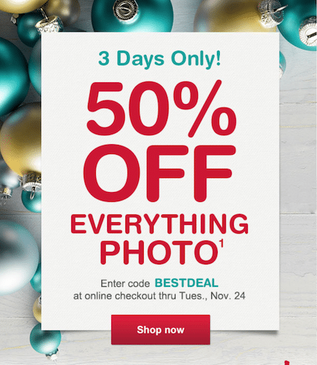 Walgreens photo everything 50 off prints ornaments books gifts