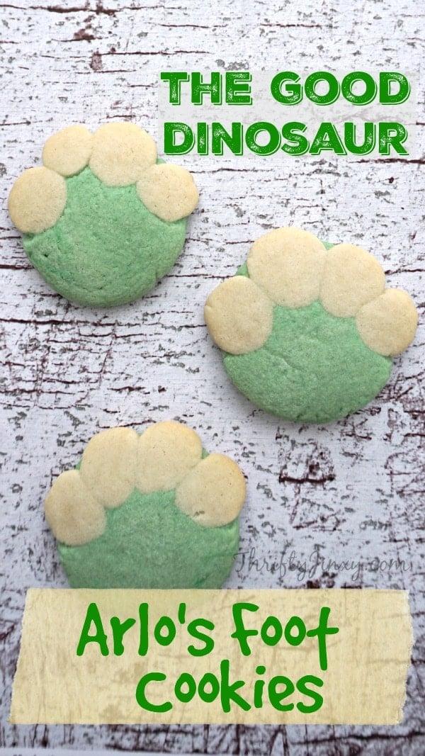 The Good Dinosaur Arlos Foot Cookies
