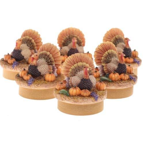 Turkey Table Favors: Thanksgiving Turkey Tablescape Ideas