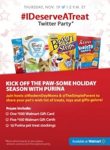 Join the Purina #IDeserveATreat Twitter Party
