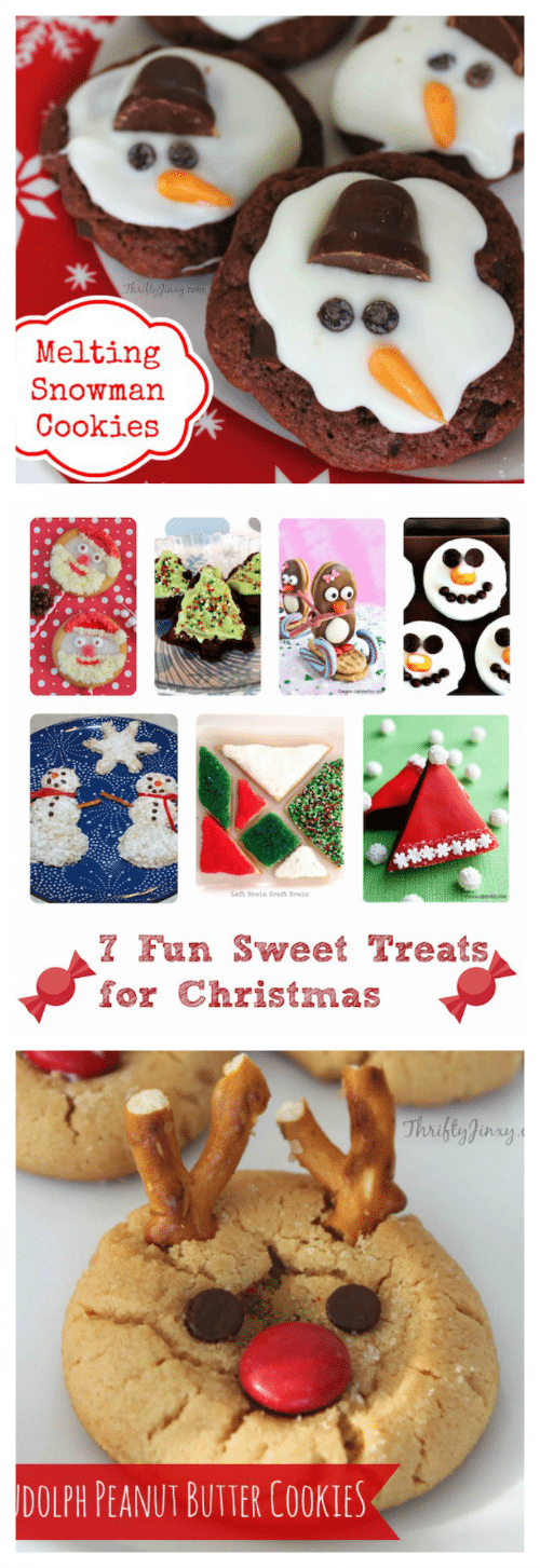 Can you believe Christmas is this week!? Are you ready to celebrate with friends and family?I think I am almost ready. I may even have time to make some festive goodies to share with everyone. With that in mind I started looking at fun sweet treats for Christmas and I found 7 recipes that are sure to make an impression on your nearest and dearest this year!