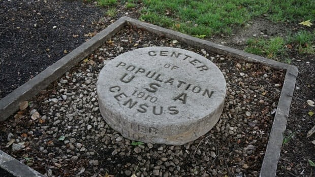 Center of Population USA 1910 Census Bloomington Indiana