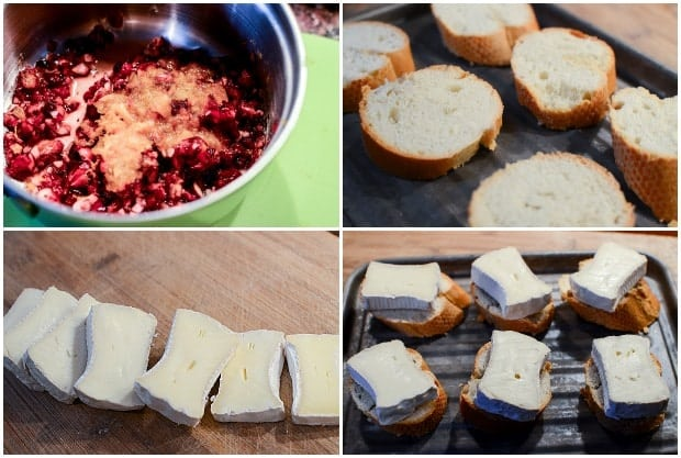 Cranberry Compote with Brie Appetizer Recipe Process
