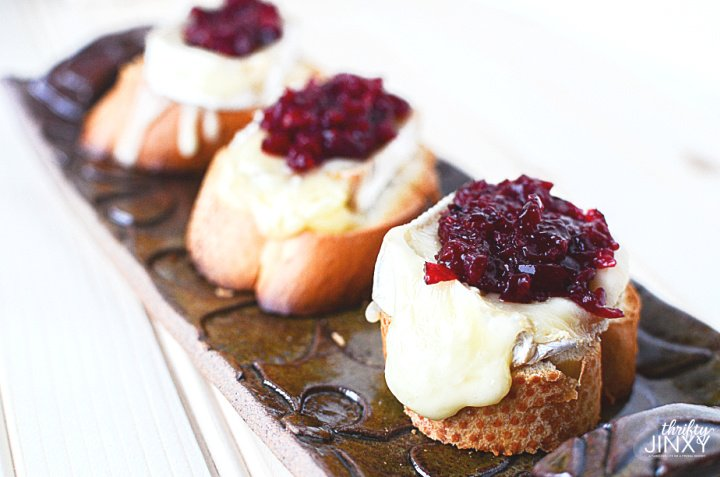 Cranberry Compote with Brie Appetizer Recipe on Tray