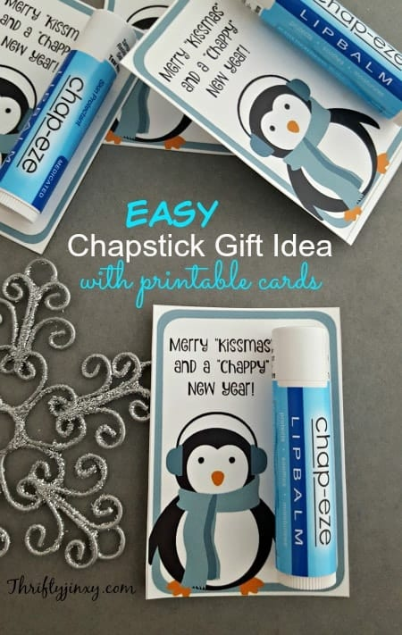 Easy Chapstick Gift Idea with Printable Cards