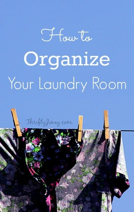 Reduce stress and make it easier to do your laundry with these tips about How to Organize Your Laundry Room!