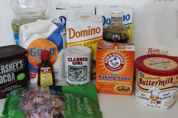 Peppermint Glazed Chocolate Donuts Recipe Ingredients