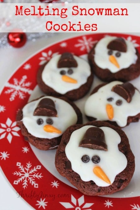 This Melting Snowman Cookies Recipe is a fun way to celebrate winter (or the end of winter) whether or not you have snow on the ground! Fun to decorate!