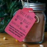 Mexican Hot Chocolate Popcorn Sprinkle Recipe with Printable Gift Tags