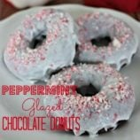 Peppermint Glazed Chocolate Donuts Recipe