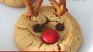 Rudolph Peanut Butter Cookies