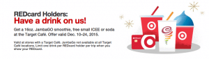 FREE JamboGO Smoothie, ICEE, or Soda with Target REDcard!