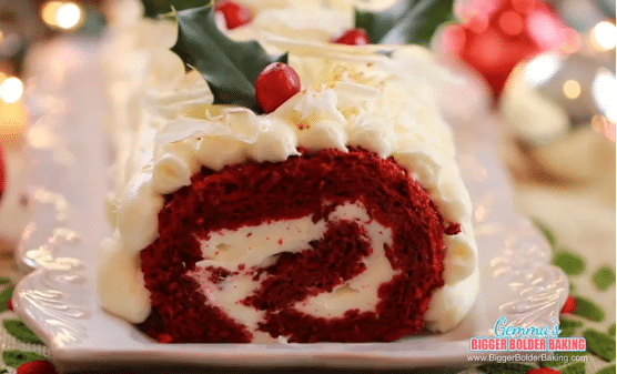 Red Velvet Roulade Cake Recipe Courtesy of LG ProBake Convection Ovens