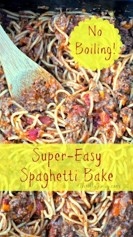 Easy Spaghetti Bake Recipe No Boiling