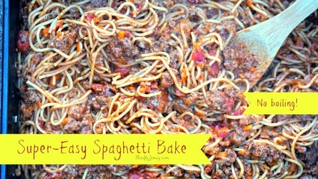 Easy Spaghetti Bake Recipe – No Boiling!