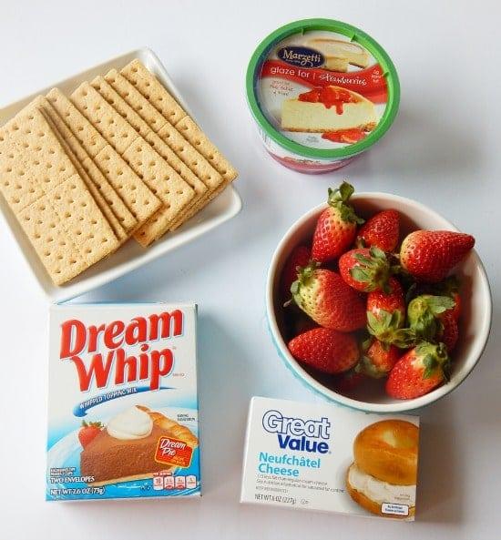 Easy Strawberry Cheesecake Pie Recipe Ingredients