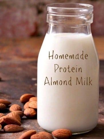 Homemade Protein Almond Milk Recipe