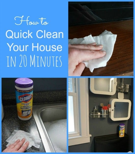 How to Quick Clean Your House in 20 Minutes