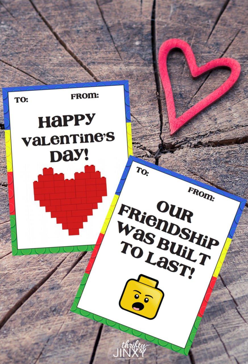 Printable LEGO Valentine Cards