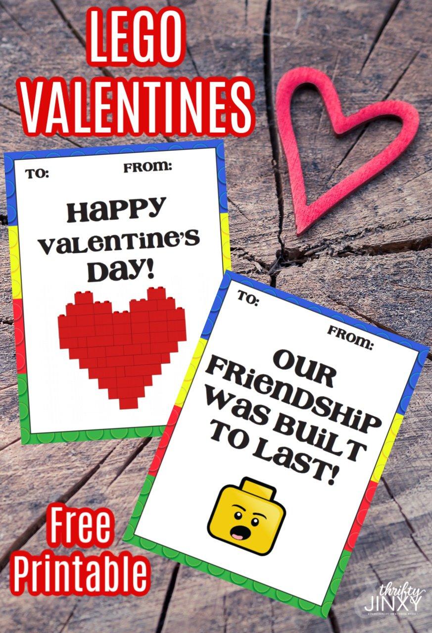 Free Lego Valentines Printables Thrifty Jinxy