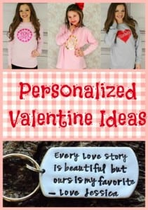 Monogrammed Valentine Tees + Other Personalized Valentine Ideas!