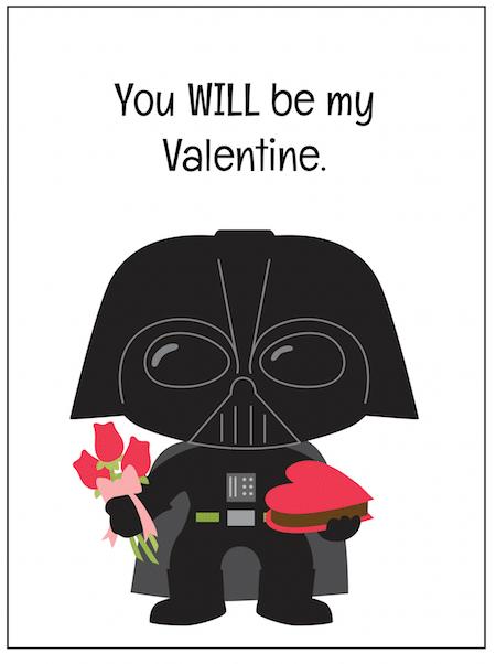 Printable Darth Vader Valentine