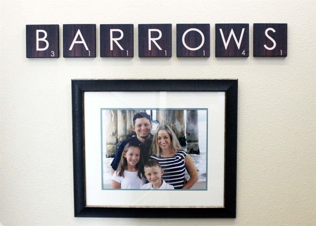 Scrabble Family Wall Art Design