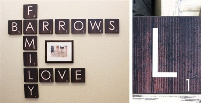 Scrabble Family Wall Art
