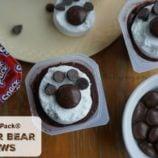 Polar Bear Paw Snack Pack Pudding Treats