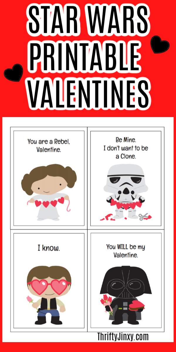 Star Wars Valentine Printables