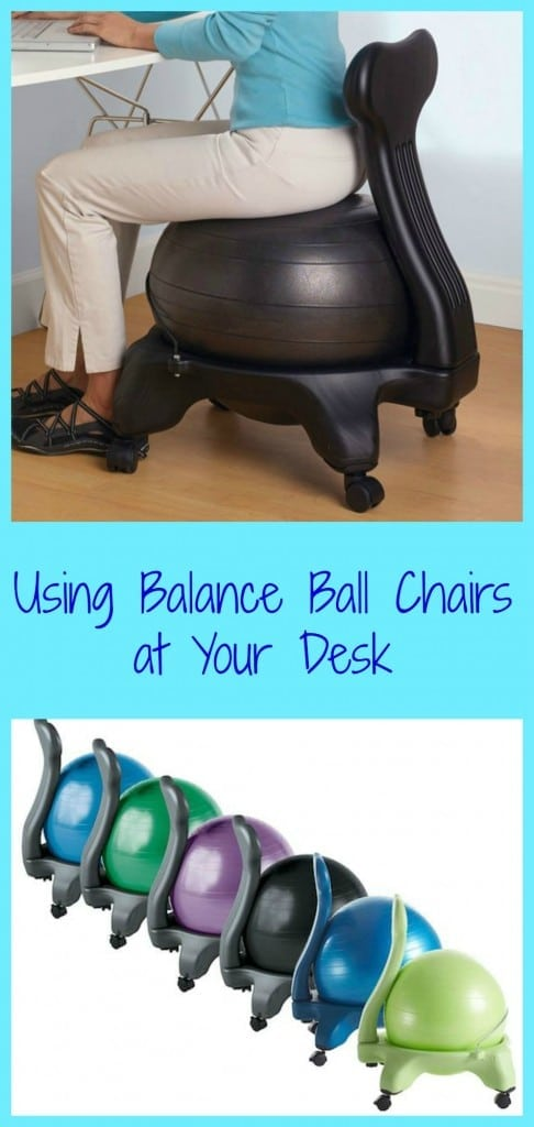 using balance ball chairs at your desk can help alleviate back pain strengthen core muscles - Gaiam Ball Chair