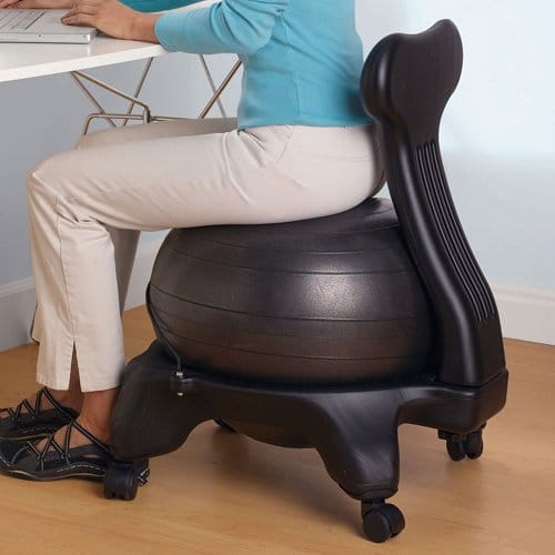 using balance ball chairs at your desk - Space Saving High Chair