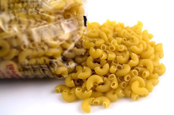 macaroni falling out of bag