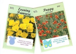 Flower Seed Packets – An Inexpensive Baby or Bridal Shower Favor – Cheap even!