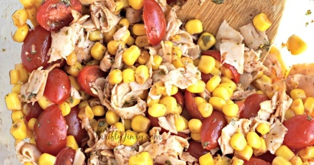 Chipotle Chicken, Corn, and Tomato Salad Recipe