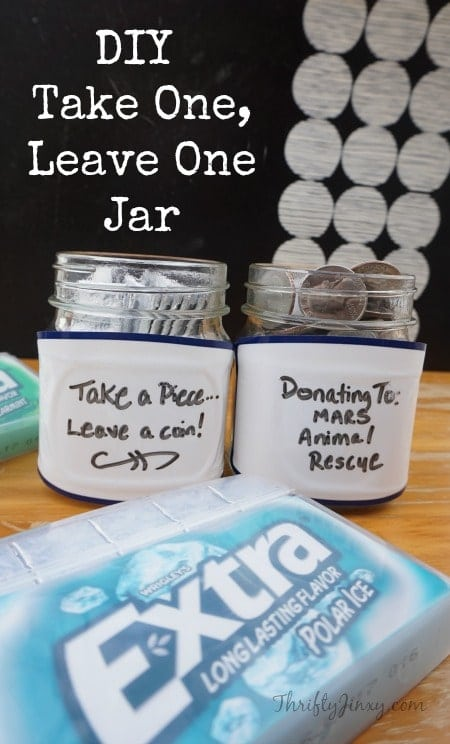 DIY Take One, Leave One Jar