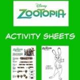 Disney Zootopia Printable Activity Sheets