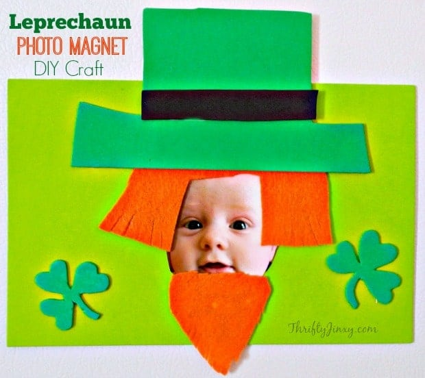 3 Great Swift Y And Thrifty Diy Decorating Ideas: Leprechaun Photo Magnet St. Patrick's Day Craft