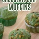 Spinach Chocolate Chip Muffin Recipe