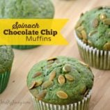 Spinach Chocolate Chip Muffins Recipe