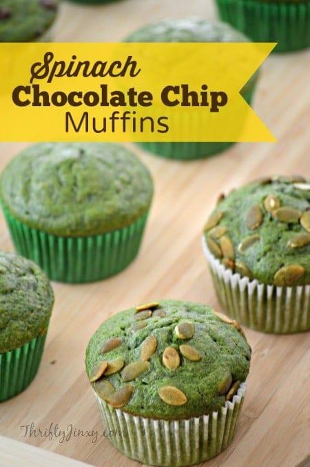 Spinach Chocolate Chip Muffins Recipe