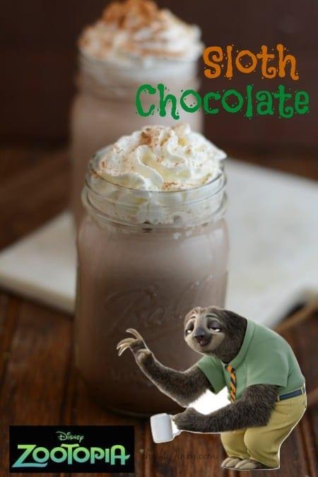 Zootopia Sloth Chocolate Recipe