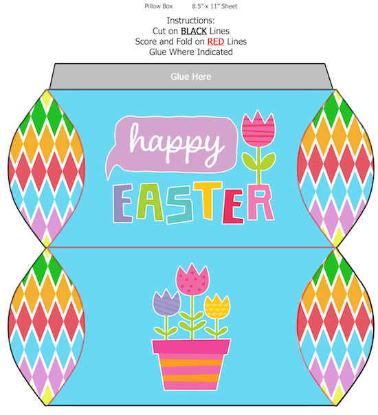 Easter Pillow Box Printable