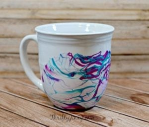 DIY Nail Polish Marbled Mugs Craft