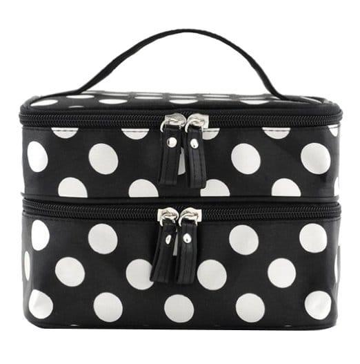 Black and White Polka Dot Beauty Bag