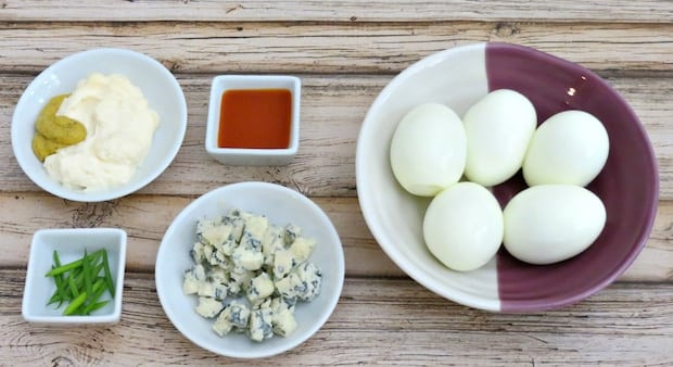 Buffalo Deviled Eggs Recipe Ingredients